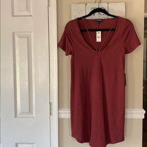 Express Dresses - Express Maroon T-Shirt Dress Sz XS